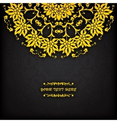 Abstract circle floral ornamental border Lace vector image