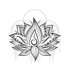 Abstract tattoo logo design of lilly lotus flower vector