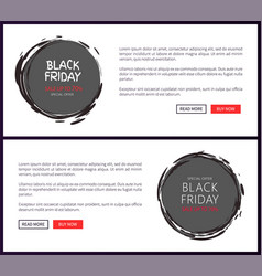 advertisement on black friday sale sketch labels vector image