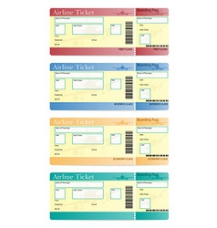 Airline ticket 05 vector