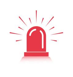Alarm siren icon for application or website vector