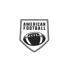 american football logo emblem usa sports badge vector image