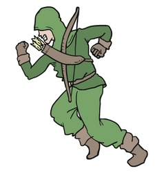 Archer draw vector