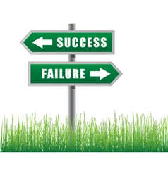 Arrows success failure vector