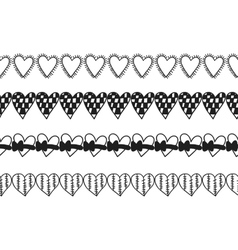 Black and white decorative ornament pattern vector image