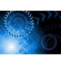 Blue technology design vector image
