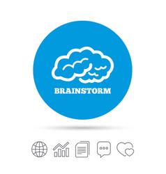 Brainstorm sign icon intelligent smart mind vector