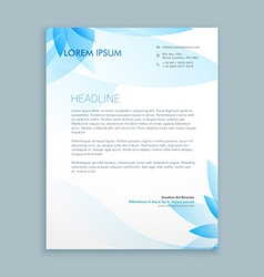 Business letterhead stationary vector