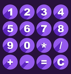 Calculator keys vector image