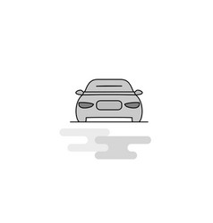 car web icon flat line filled gray icon vector image