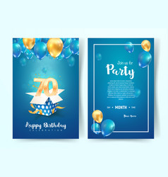 Celebration 70th years birthday vector