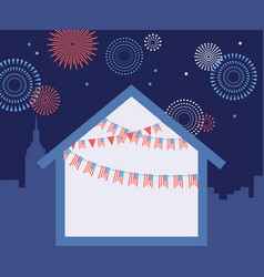 celebration independence day america 4th vector image