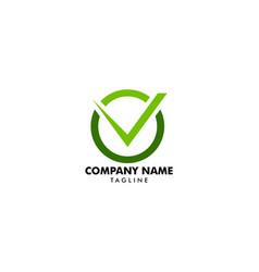 check mark logo or icon vector image