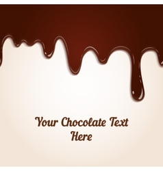 Chocolate dripping vector