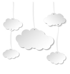 cloud paper style for your text banner for web vector image