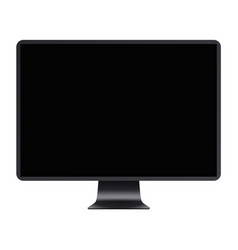Computer display with blank black screen vector