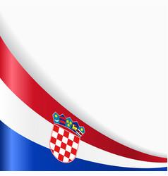 croatian flag background vector image vector image