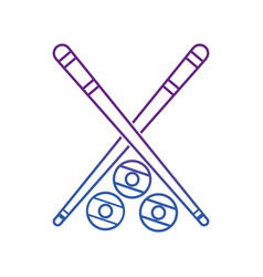 Cue and ball design vector