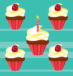 cupcakes for birthday vector image