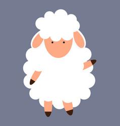 cute little sheep vector image