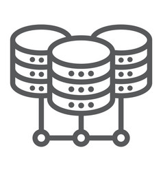 data center line icon data and analytics vector image