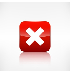 Delete web icon close symbol application button vector