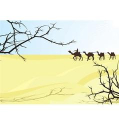 desert karavan vector image