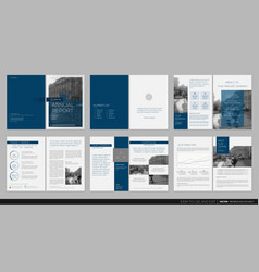 Design annual report template brochures vector