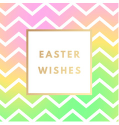 easter wishes greeting card with creative design vector image