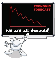 economic forecast vector image