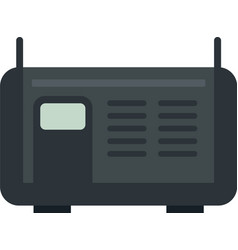 Electric welding icon flat isolated vector