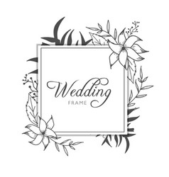 elegant floral gold wedding invitation banner vector image