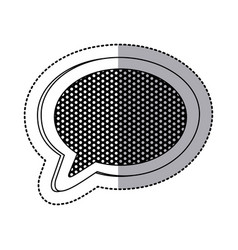 emblem chat bubble icon vector image