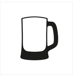 empty beer mug vector image