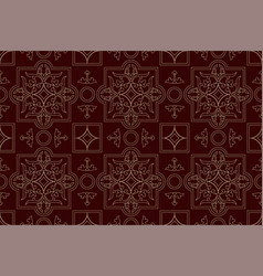 endless burgundy pattern vintage background vector image