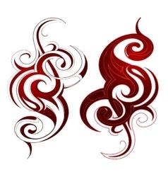 Ethnic tattoo shape vector