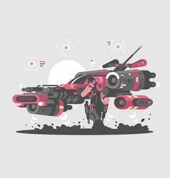 Flying machine future vector