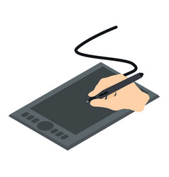 graphics tablet icon isometric 3d style vector image