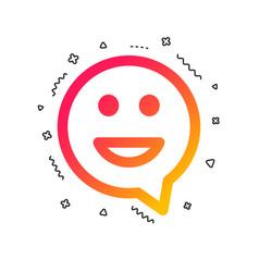 happy face speech bubble symbol smile icon vector image