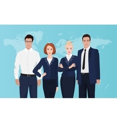 Happy group portrait of a professional business vector