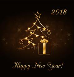 Happy new year celebration background gold xmas vector