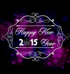 Happy new year typography handwriting vector