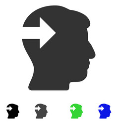Head plug-in arrow flat icon vector
