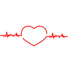 heart pulse icon design template isolated vector image
