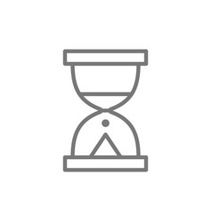 Hourglass sand watch line icon vector