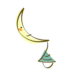 Icon new moon vector