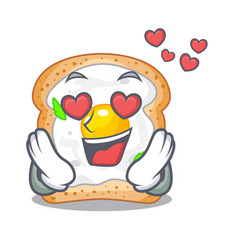 In love sandwich with egg above character board vector