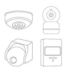 Isolated object of cctv and camera icon vector