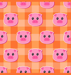 little pig pattern vector image