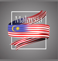 malaysia flag official national 3d vector image